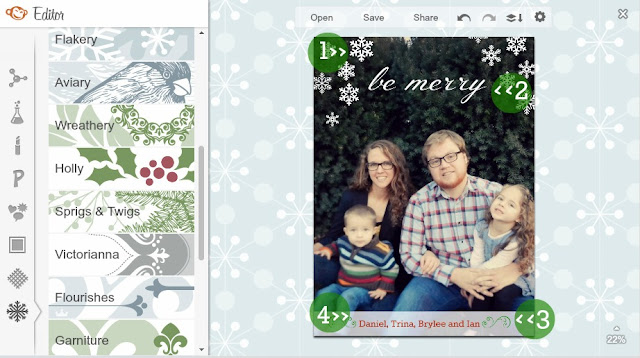 picmonkey holiday photo card
