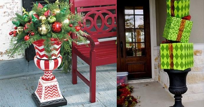 Adornos navide os para el exterior casas ideas - Arreglos navidenos para la casa ...