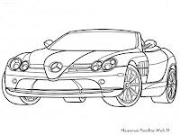 Gambar Mercedes-Benz SLR McLaren Untuk Diwarnai