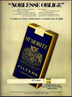 anúncio de cigarros st moritz de 1971