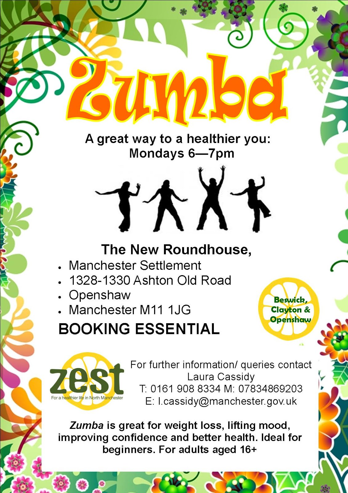 Zest Activities North Manchester Zumba At Roundhouse Openshaw