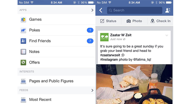 how to make facebook show most recent posts