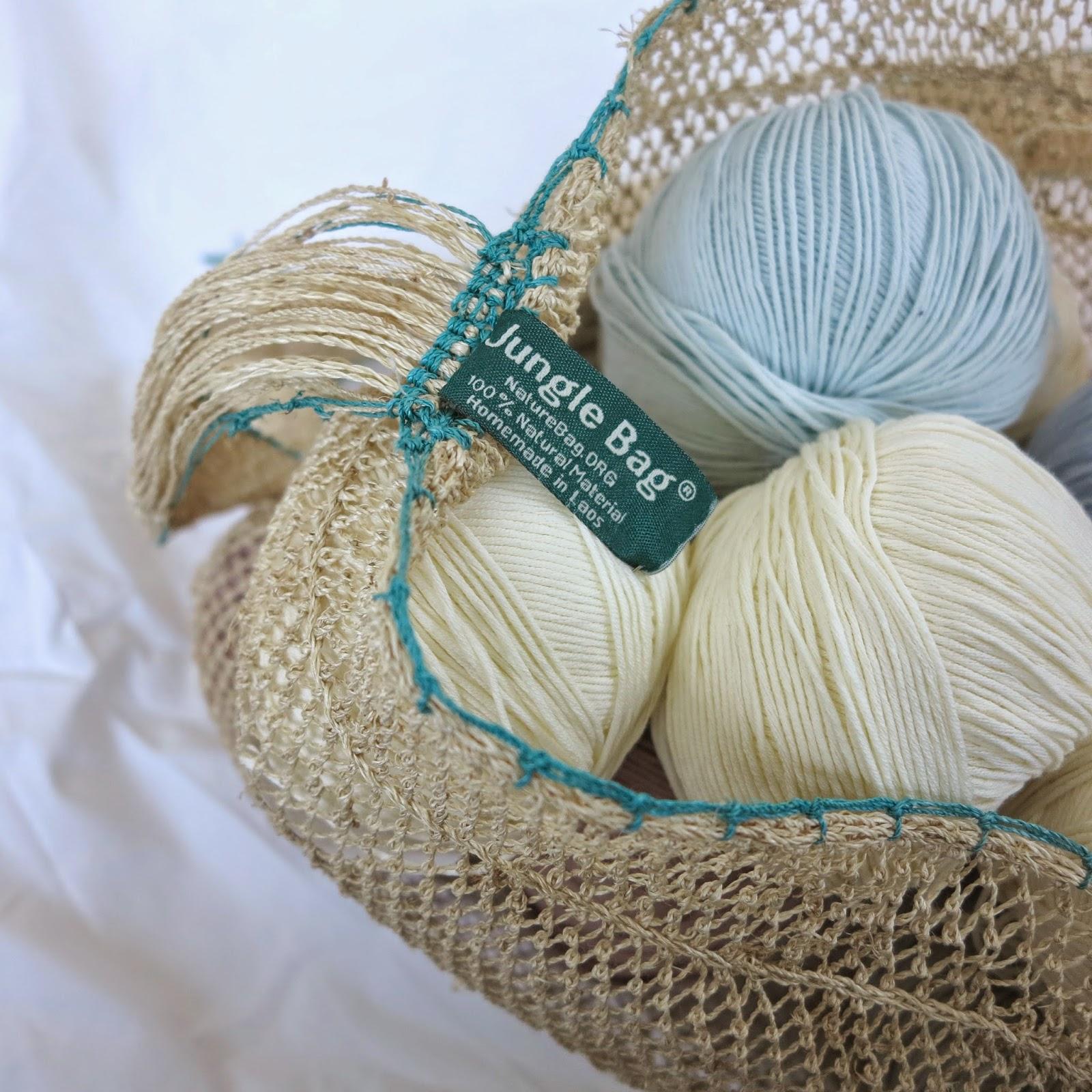 ByHaafner, Nature Bag, kudzu, JungleVine, yarn bag