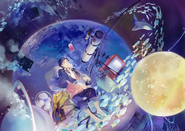 anime wallpaper,anime scenery,anime fish