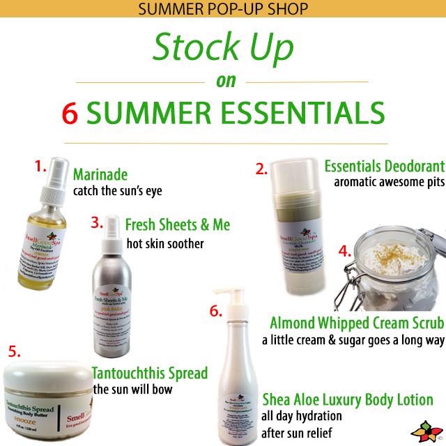 Smell Good Spa's 6 Summer Essentials Image