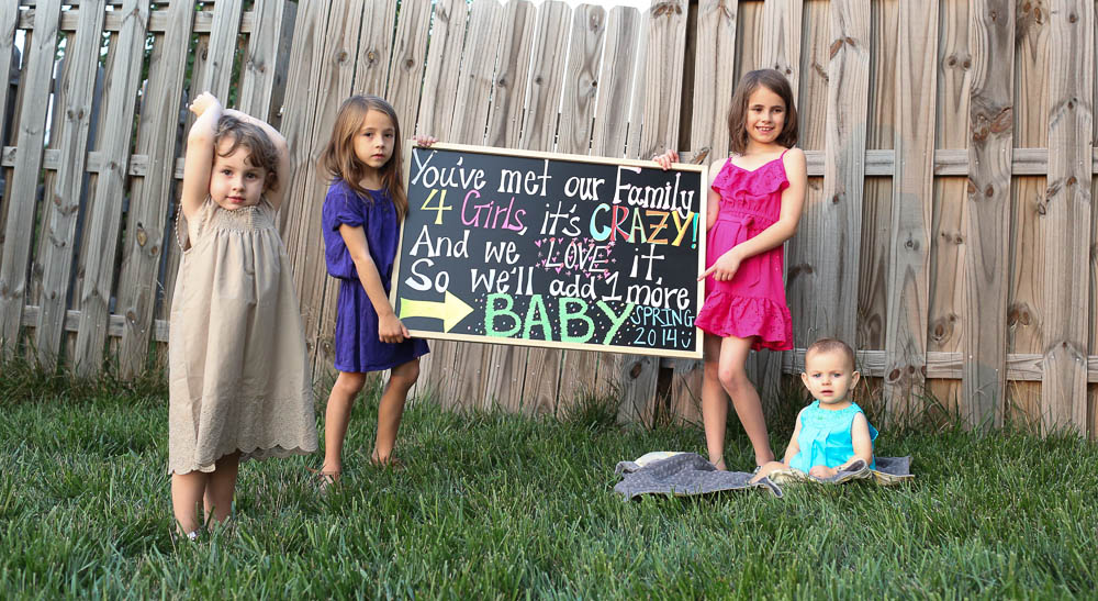baby hogan number 5 is on its way oh goodness its a surprise but were all so excited we told the girls after dinner this weekend