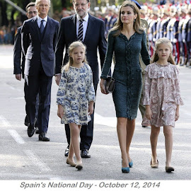 Spain's National Day - Felipe Varela Dress, Magrit Pumps