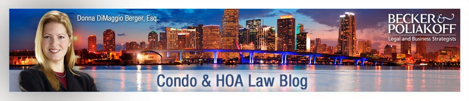 Condo and HOA Law Blog By Donna DiMaggio Berger, Esq.