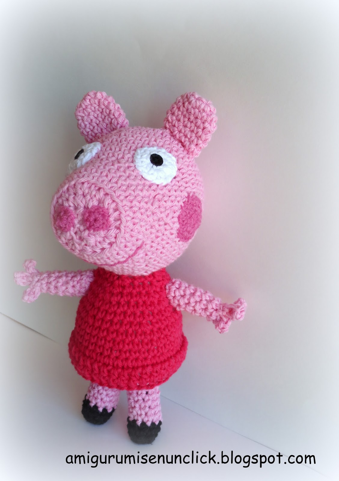 Patron Amigurumi Peppa Pig Grande : Amigurumis en un Click: PEPPA PIG