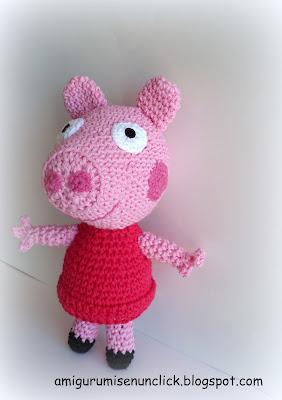 Peppa Pig Amigurumi Llavero : Amigurumis en un Click: PEPPA PIG