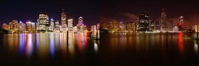 Brisbane, Austrália, durante a Hora do Planeta