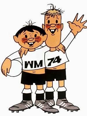 Tip and Tap Maskot Piala Dunia 1974 Jerman Barat