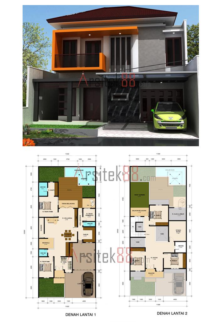 Desain Rumah Minimalis Modern dan Kumpulan Sketsa Desain Minimalis ...