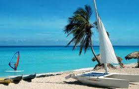 Wind surfing in Baga beach