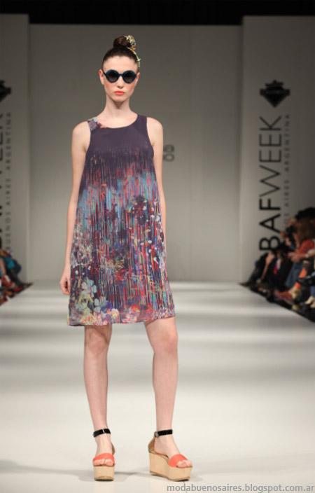 Mariana Dappiano primavera verano 2013. Moda 2013 vestidos.