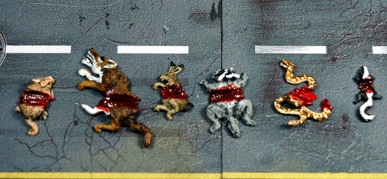 Vampifan's World of the Undead: Armorcast Road Kill Animals