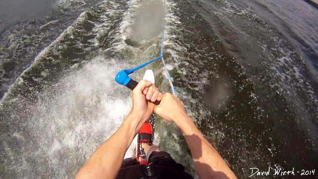 gopro water ski, slalom ski, boat