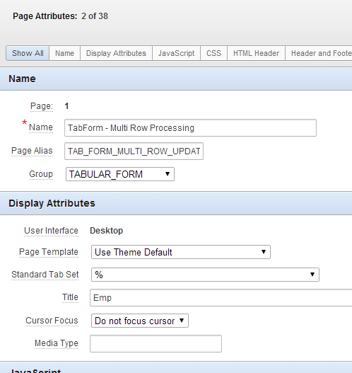 screenshot of page alias and page group