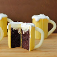 Baileys Irish Cream Beer Mug Cakes