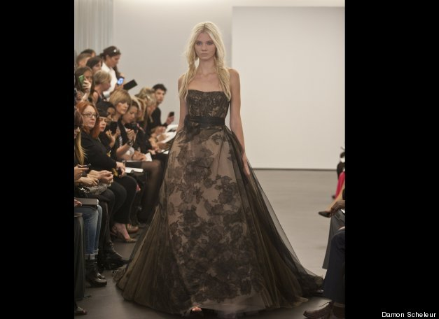 Vera Wang Debuts Black Wedding Dresses
