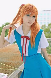 Kanda Midori cosplay as Asuka Langley Soryu (Seifuku) from Neon Genesis Evangelion