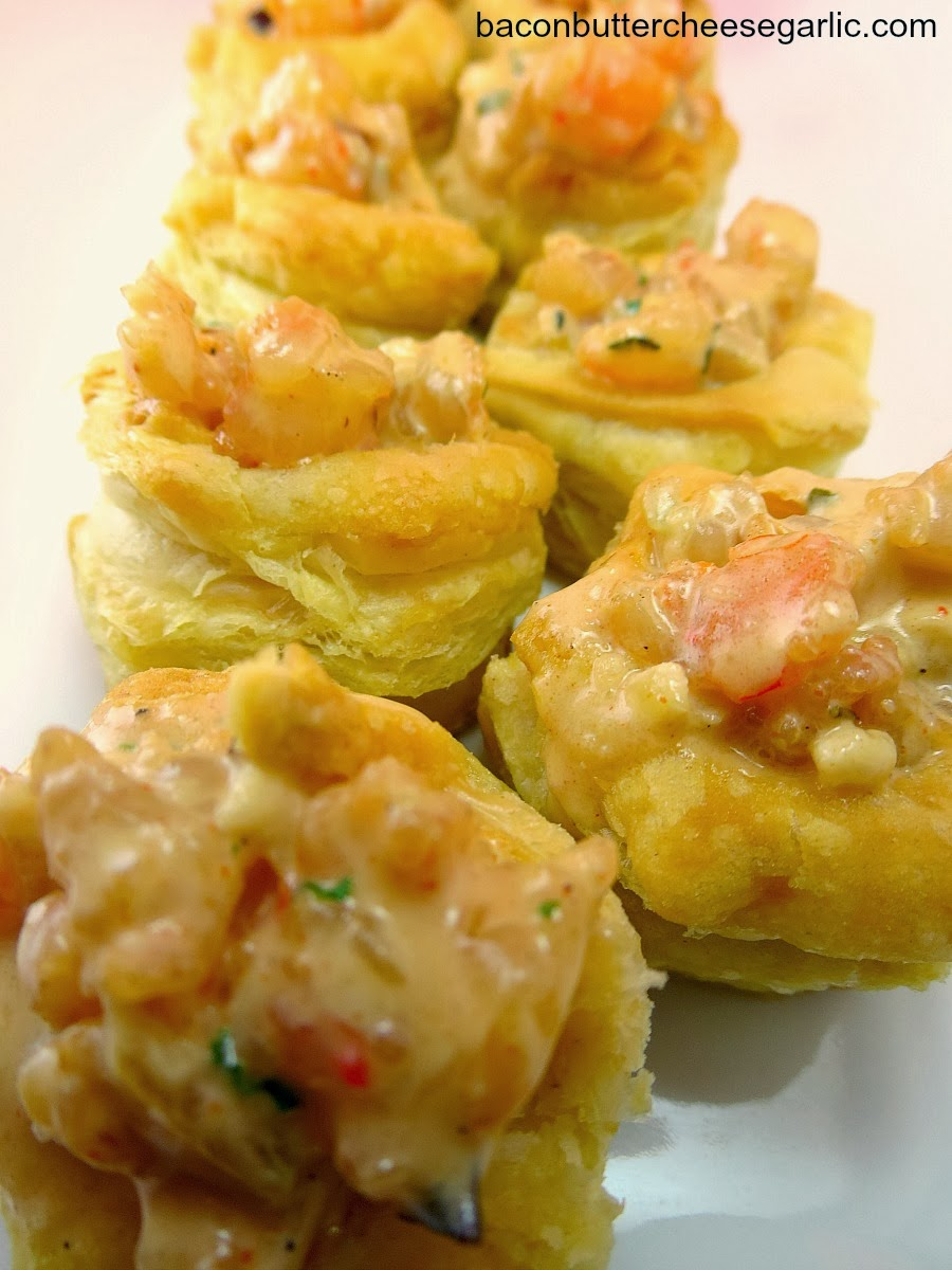 Bacon, Butter, Cheese & Garlic: Spicy Shrimp Puffs