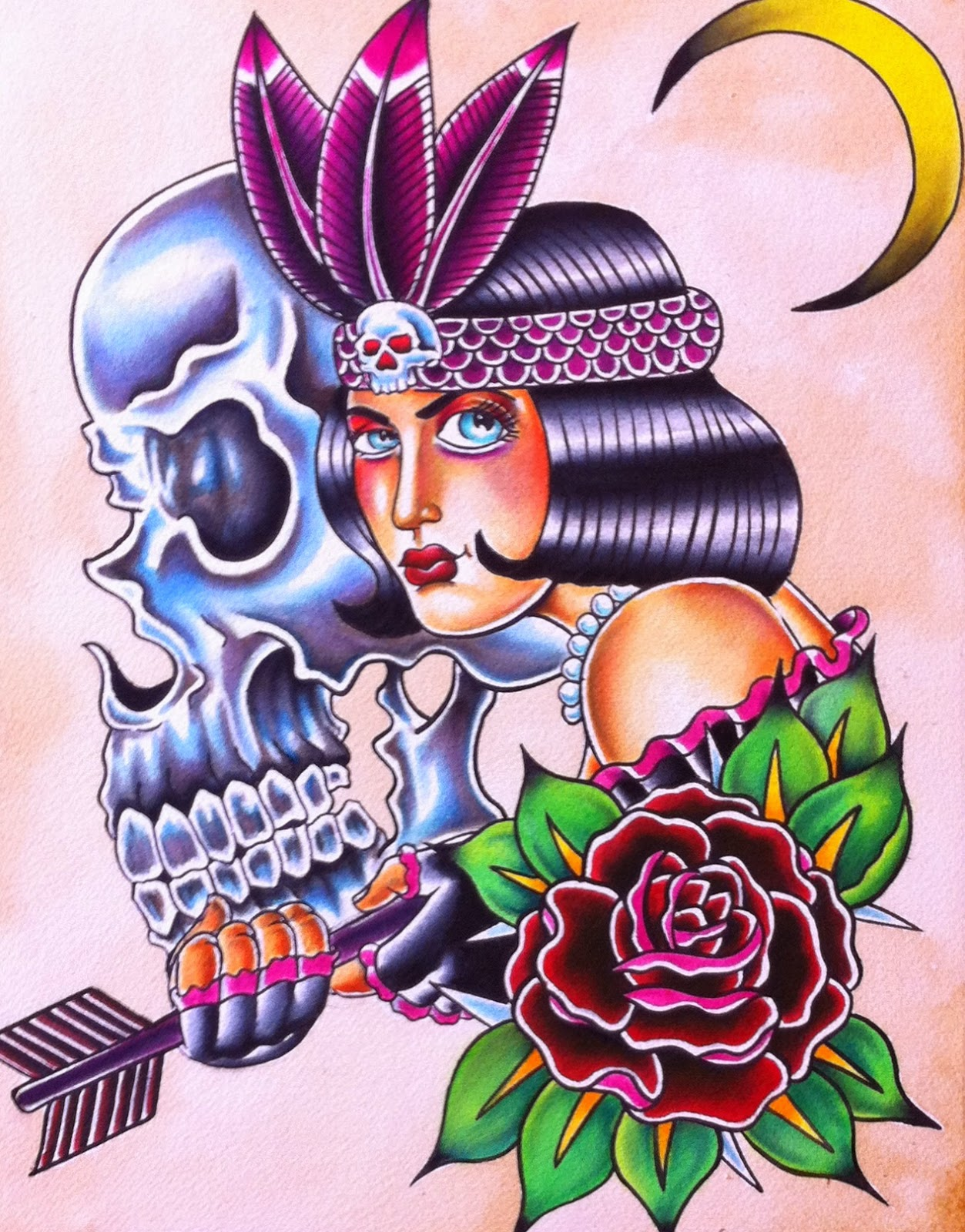 flapper, skull, flapper tattoo design, flapper tattoo, skull tattoo, skull tattoo design