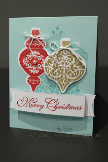 #BeautifullyBaroque and #ornament keepsakes card by Ida Chan #StampinUp Vancouver