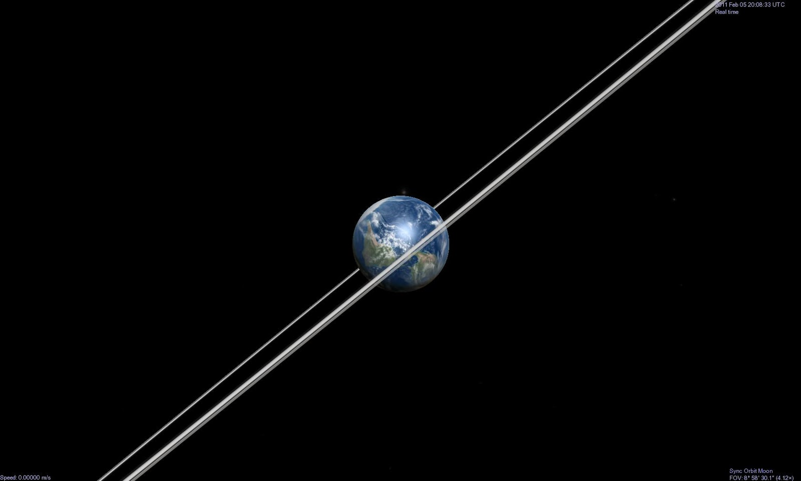 Trái Đất cùng vành đai của hành tinh Thổ khi nhìn từ ngoài không gian. Tác giả : John Brady ở Astronomy Central trên mạng xã hội Reddit.