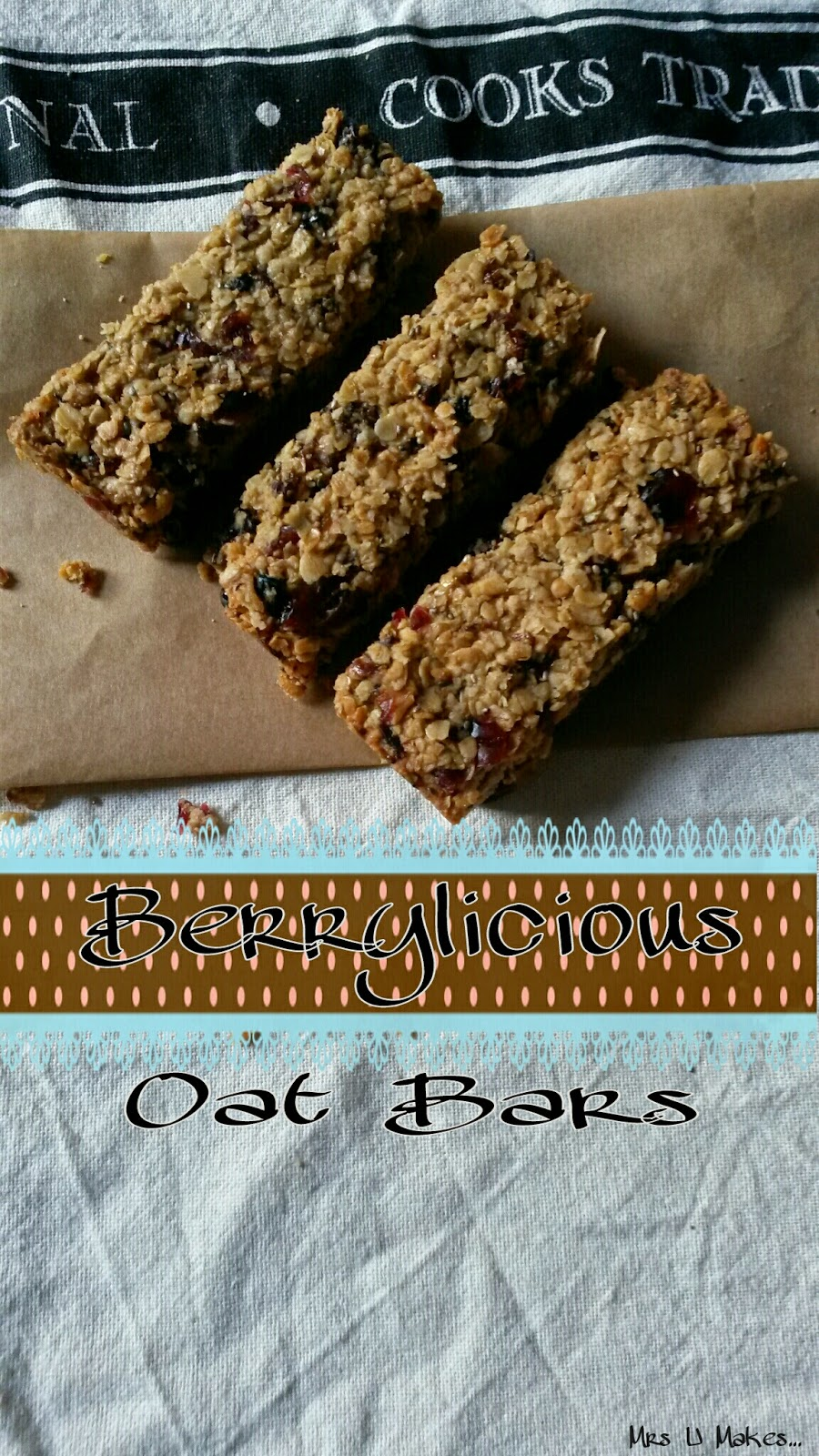 Berrylicious Oat Bars by Mrs U Makes