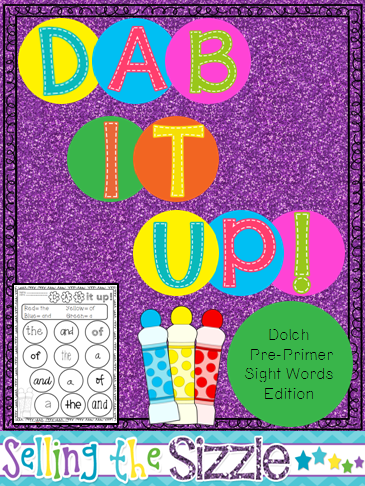 http://www.teacherspayteachers.com/Product/Dab-It-Up-with-the-Dolch-Pre-Primer-Word-List-1272160