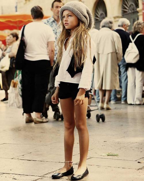 Thylane Lena-Rose is a daughter of French children's clothing designer ...