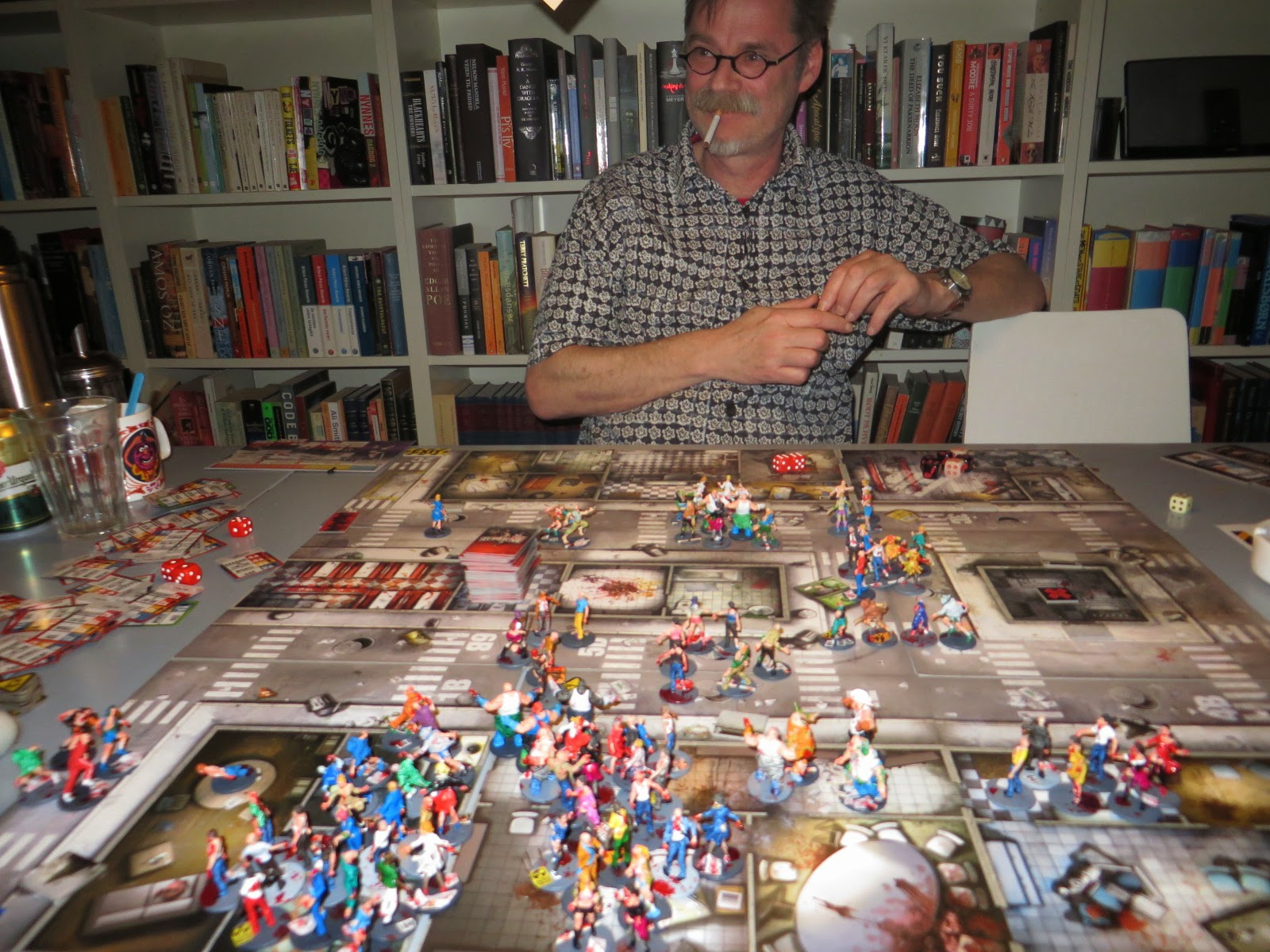 Zombicide, Zombie, Gameplay, Play, report, AAR, Y-Zone, Small Town, Sandra, Amy, Doug