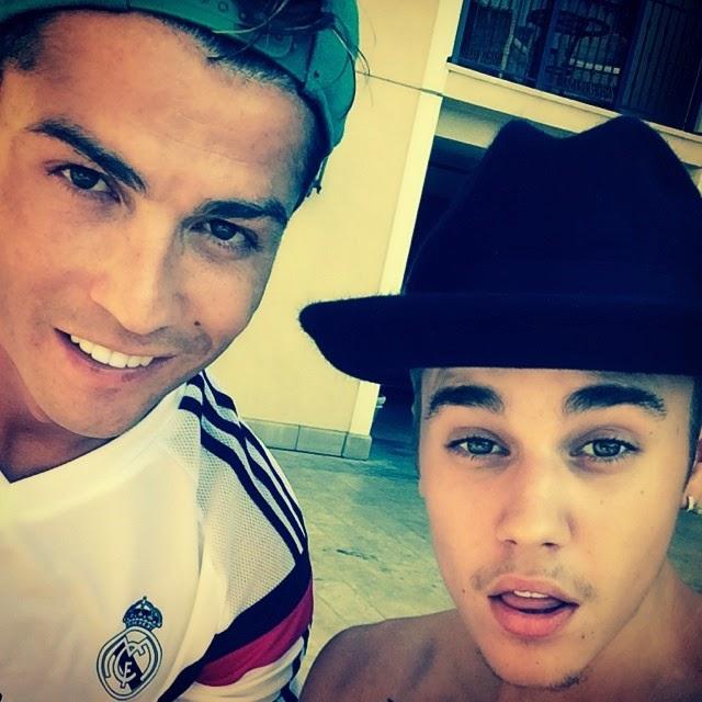 Justin Bieber y Cristiano Ronaldo juntos