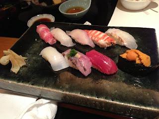 ブセナテラス真南風(まはえ)の握り寿司盛り合わせ