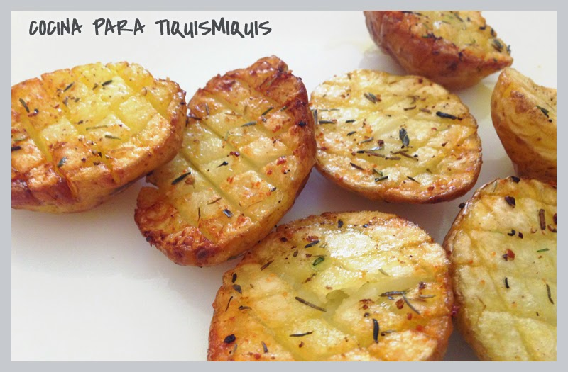 Cocina para tiquismiquis patatas asadas al horno - Patatas pequenas al horno ...