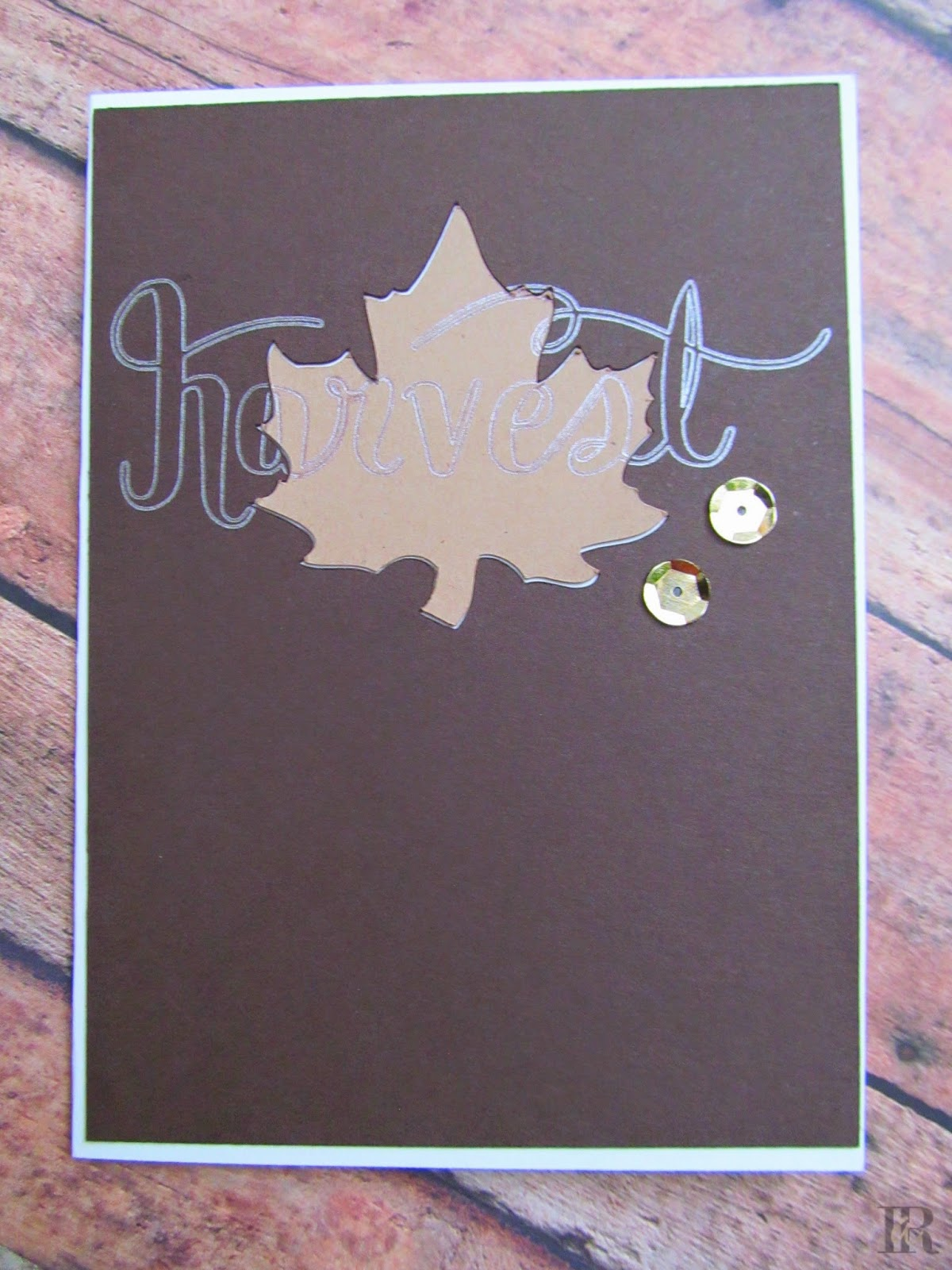 Monochromatic Brown & Metallic Autumn Card #PP205 #CTS85