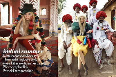 India fashion vogue editorial