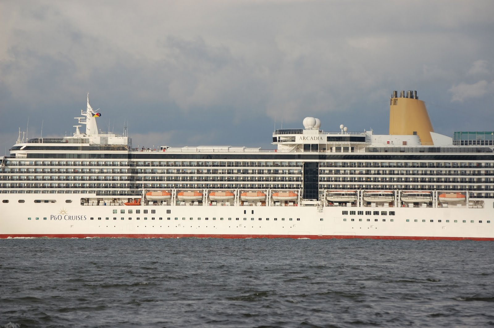 NAVIGATION-Cruising And Maritime Themes Cruise Ship U0026quot;ARCADIAu0026quot; At Liverpool Last Month