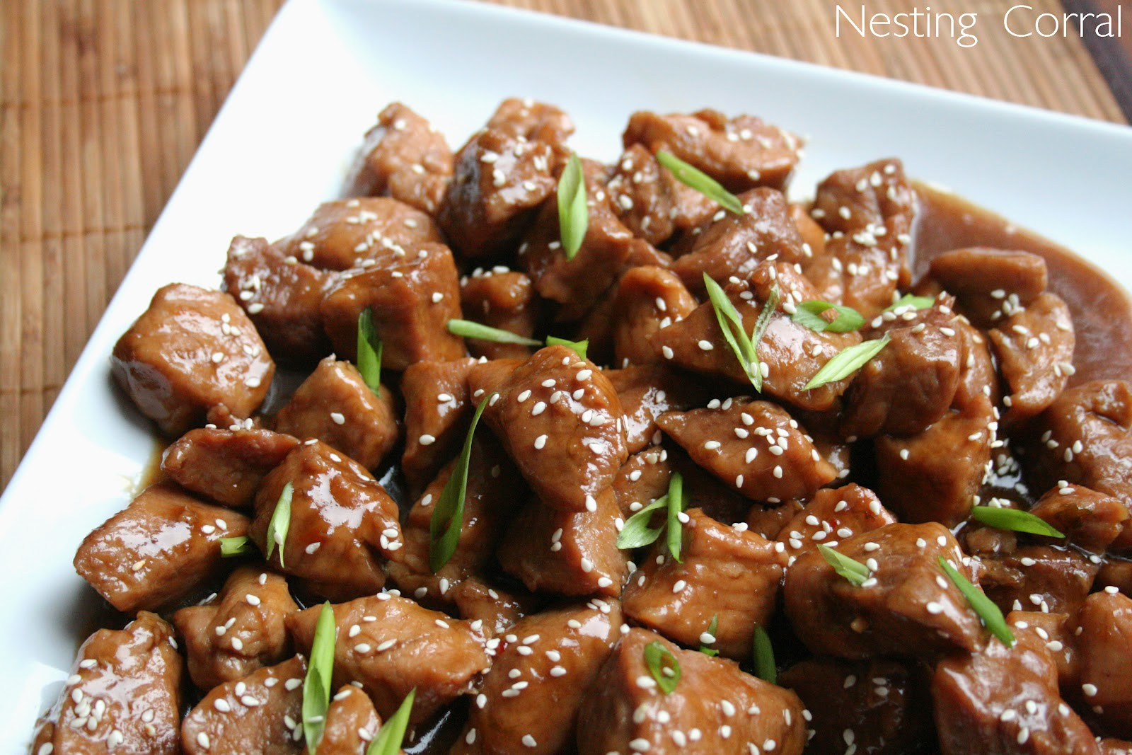 The Nesting Corral: Braised Pork in Sweet Soy Sauce