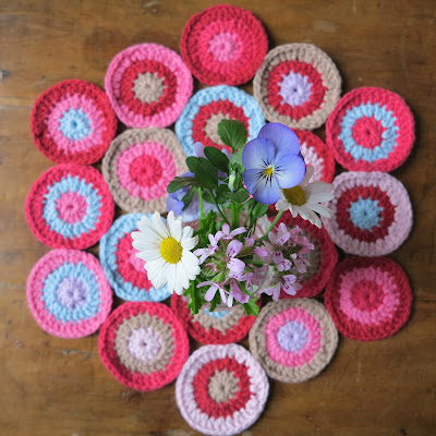 ByHaafner, crochet, circles, bright