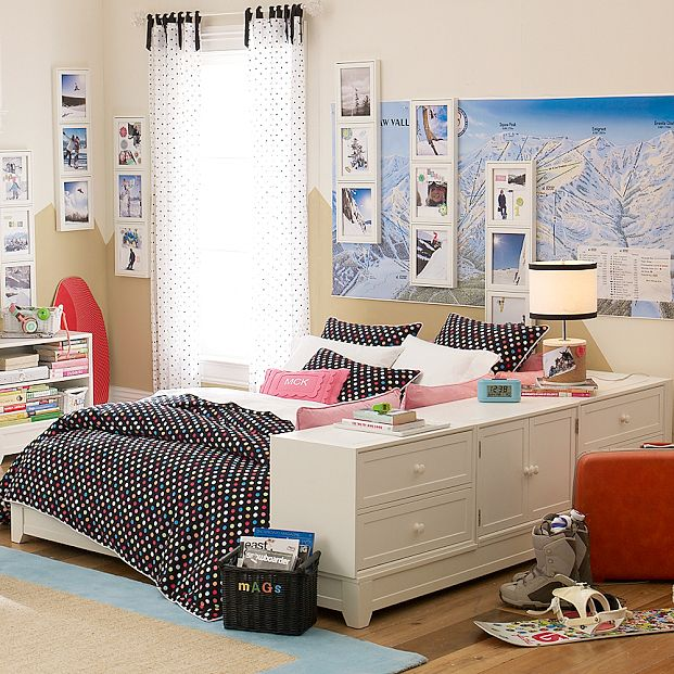 Decoraci n de cuartos dormitorios paredes cortinas for Cuartos decorados para jovenes