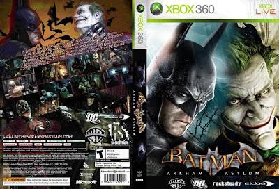Capa de Batman: Arkham Asylum para XBox