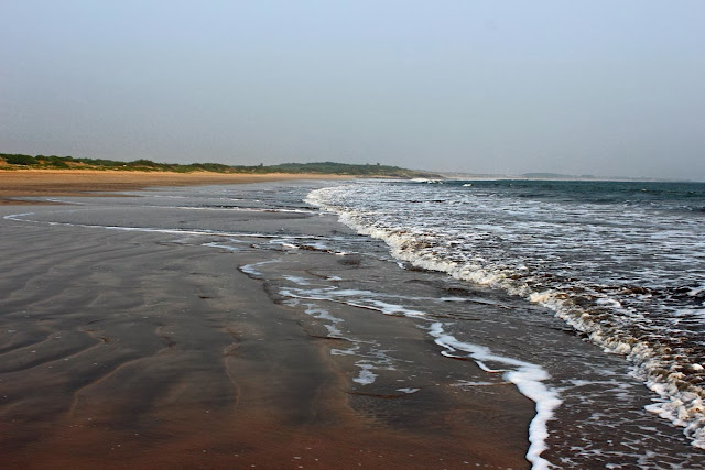 shoreline of a beach at Diu