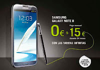 galaxy note II 0€ pago a plazos cheque regalo 50 euros phone house
