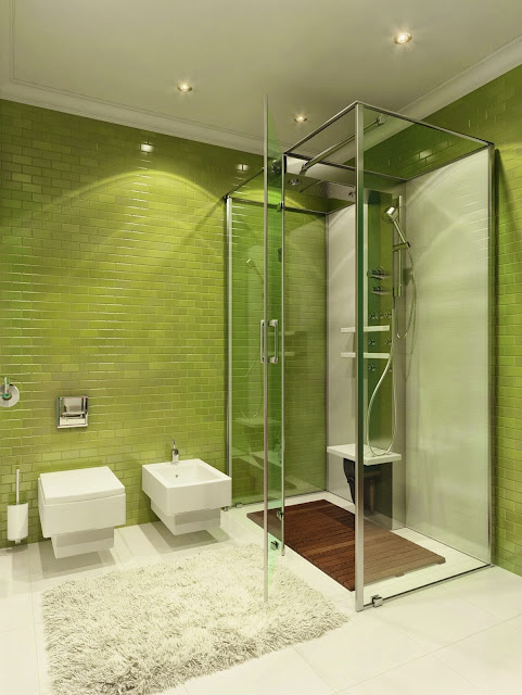 lime minimalist bathroom design