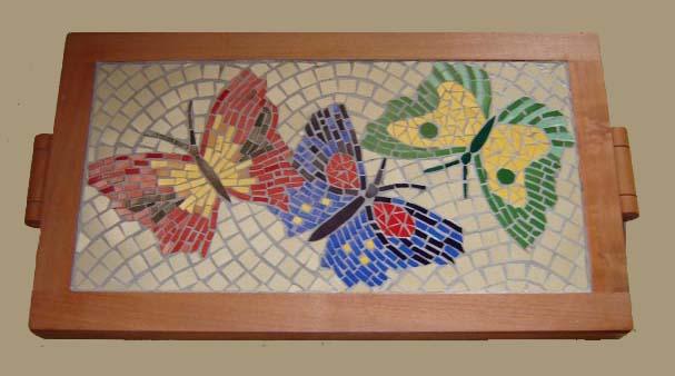 Barbara neilson mosaicos mosaico bandeja cer mica for Dibujos para mosaiquismo