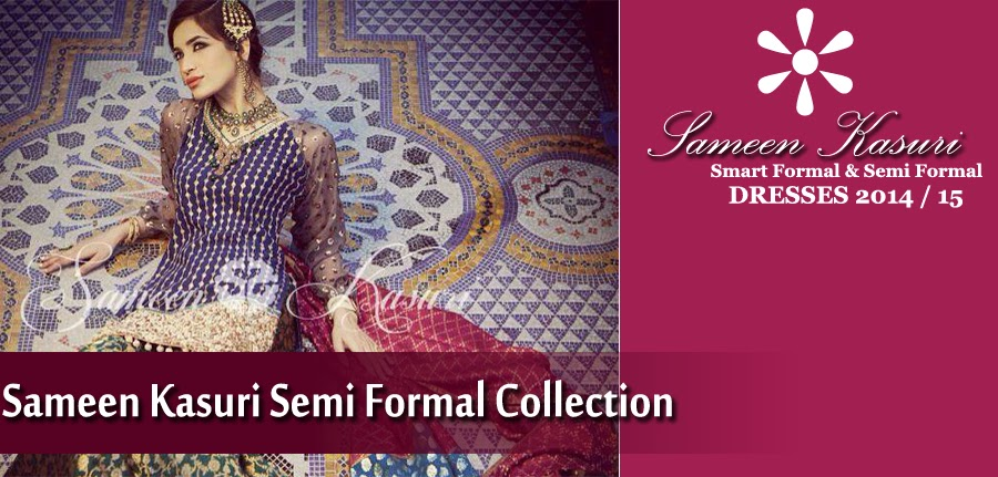 Formal Semi Formal Wear Dresses By Smeen Kasuri Wedding Wear