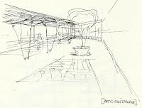 Detalle de un patio del Centro Residencial Asistido del BETA Complex