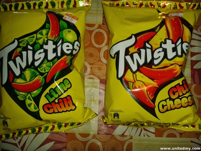 Twisties Lime Chili and Chili Cheese